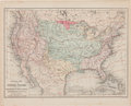 Miscellaneous:Maps, [Map]. Yeager. Physical Map of the United States Showing itsMountains, Plains, Rivers, Isothermal Lines &c....