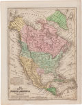 Miscellaneous:Maps, [Map]. Samuel Augustus Mitchell. No. 3 Map of North AmericaEngraved to Illustrate Mitchell's School and Family Geograph...
