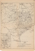 Miscellaneous:Maps, [Map]. Blum's Commercial Travelers' Map of Texas....