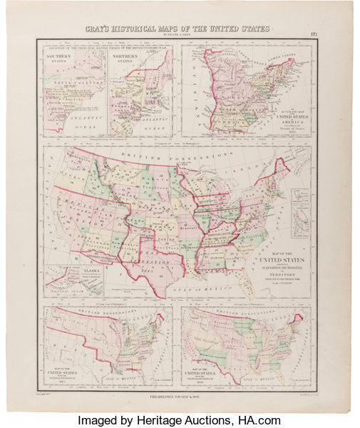 Map]. Frank A. Gray. Gray\'s Historical Maps of the | Lot #34162 ...