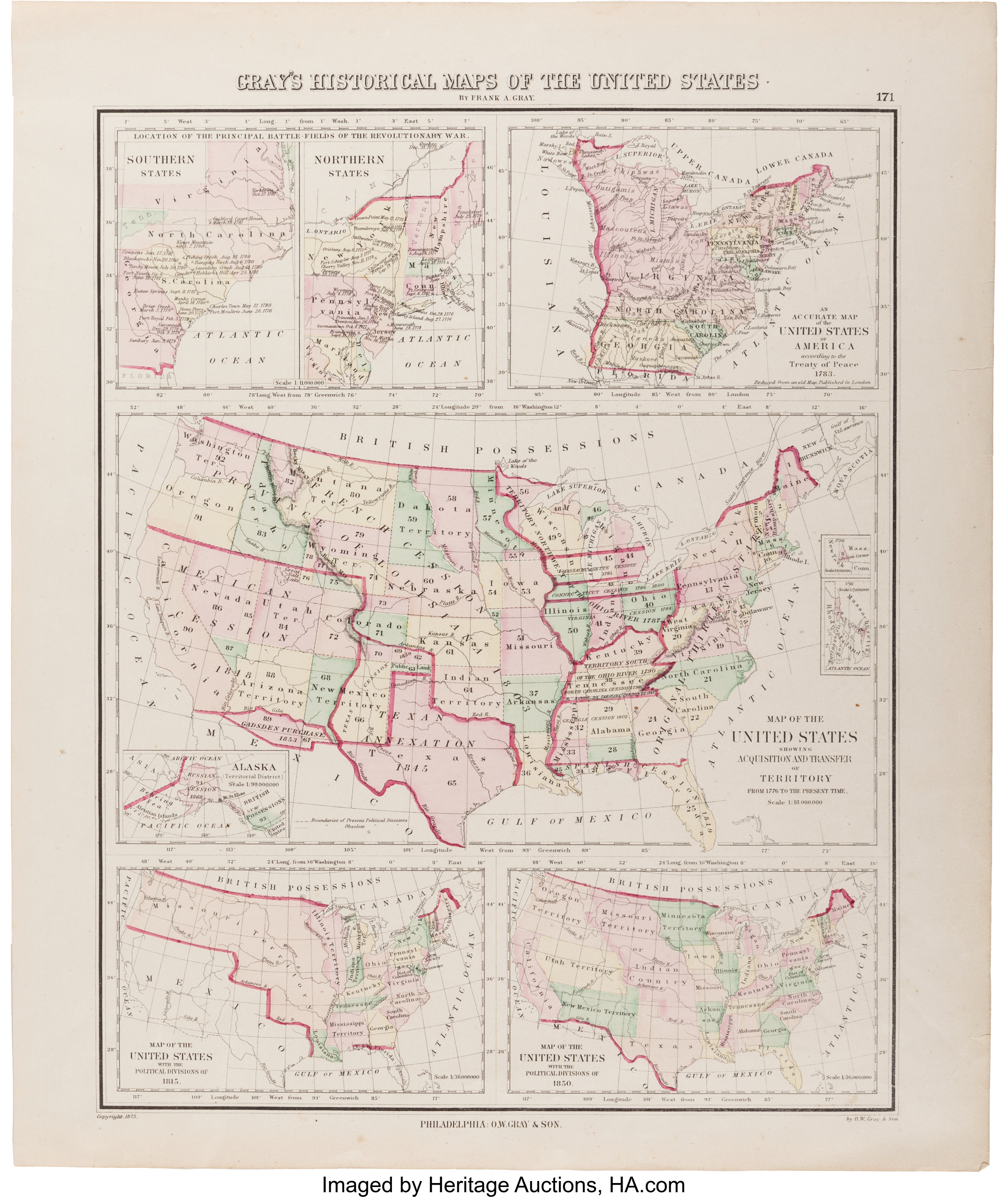 Map]. Frank A. Gray. Gray\'s Historical Maps of the United ...