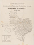 Miscellaneous:Maps, [Map] and [Greer County, Texas]. Latest Map of Texasfurnished from the Banking, Law, Land and Collection Of...
