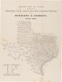 [Map] and [Greer County, Texas]. Latest Map of Texas furnished from the Bankin