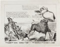 """Miscellaneous:Ephemera, [Texas Annexation]. Political Cartoon """"The Danger of VotingYourself a Farm - The Probability of Getting It in a Horn..."""