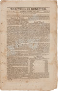 Miscellaneous:Ephemera, First Declaration of Independence by the Province of Texas Printedin The Weekly Register....
