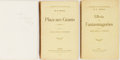 Books:Science Fiction & Fantasy, H. G. Wells. INSCRIBED. Lot of Three French Editions of Wells' Works Published by the Societe du Mercure de France, including:... (Total: 3 Items)