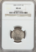 Liberty Nickels: , 1883 5C With Cents MS64 NGC. NGC Census: (308/188). PCGS Population(346/184). Mintage: 16,032,983. Numismedia Wsl. Price f...