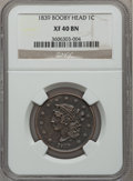 Large Cents: , 1839 1C Booby Head XF40 NGC. NGC Census: (3/157). PCGS Population(10/122). Mintage: 3,128,661. Numismedia Wsl. Price for p...