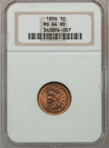 Indian Cents: , 1896 1C MS64 Red NGC. NGC Census: (78/60). PCGS Population(153/61). Mintage: 39,057,292. Numismedia Wsl. Price for problem...