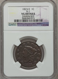 Large Cents: , 1823/2 1C -- Damaged -- NGC Details. VG. N-1. NGC Census: (8/51).PCGS Population (12/88). Mintage: 1,262,000. Numismedia ...