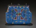American Indian Art:Beadwork and Quillwork, A SIOUX BEADED HIDE PURSE. c. 1890...