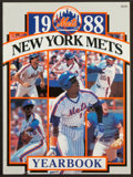 Baseball Collectibles:Publications, 1988 New York Mets Team Signed Yearbook (28 Signatures)....