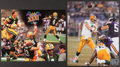Football Collectibles:Photos, Brett Favre Signed Photographs Lot of 2....