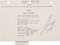 Apollo 11 Lunar Module Flown LM Activation Checklist Page with Handwritten Notations by Neil