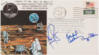 Apollo 11 Flown Crew-Signed Commemorative Cover, Number EEA-48, Originally from the Personal Collection of Mission Lunar...