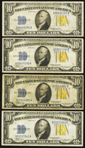 Small Size:World War II Emergency Notes, Fr. 2309 $10 1934A North Africa Silver Certificates. Very Fine.. ... (Total: 4 notes)