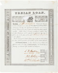 Autographs:Statesmen, Stephen F. Austin, Branch T. Archer, and William H. Wharton FirstTexian Loan Certificate Signed....