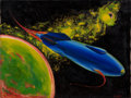 Pulp, Pulp-like, Digests, and Paperback Art, ALVA ROGERS (American, b. 1923). Up in Space, 1945. Oil oncanvas. 24 x 18 in.. Signed lower right. From the Jerry W...