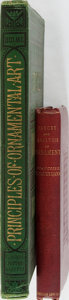 Books:Art & Architecture, [Ornament]. Lot of Two Titles Related to Ornamental Art. [Various publishers, dates, editions]. One octavo and one folio vol... (Total: 2 Items)