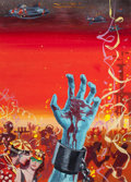 Pulp, Pulp-like, Digests, and Paperback Art, EDMUND (EMSH) EMSHWILLER (American, 1925-1990). Slavers ofSpace, preliminary paperback cover, 1960. Gouache andtempera...