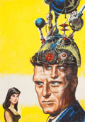 Pulp, Pulp-like, Digests, and Paperback Art, EDMUND (EMSH) EMSHWILLER (American, 1925-1990). Mind Mate,preliminary Amazing Stories digest cover, July 1964. Oil onb...