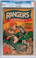 Golden Age (1938-1955):Adventure, Rangers Comics #40 (Fiction House, 1948) CGC VF+ 8.5 Cream to off-white pages....