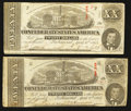Confederate Notes:1863 Issues, T58 $20 1863 PF-12 Cr. 421 Two Examples.. ... (Total: 2 notes)
