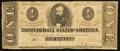 Confederate Notes:1863 Issues, T62 $1 1863 PF-5 Cr. UNL.. ...