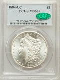Morgan Dollars: , 1884-CC $1 MS66+ PCGS. CAC. PCGS Population (1423/71). NGC Census:(920/103). Mintage: 1,136,000. Numismedia Wsl. Price for...