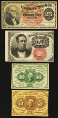 Fractional Currency:First Issue, A Quartet of Fractionals.. ... (Total: 4 notes)