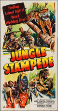 "Movie Posters:Documentary, Jungle Stampede (Republic, 1950). Three Sheet (41"" X 78""). Documentary.. ..."