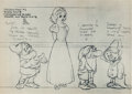 animation art:Model Sheet, Snow White and the Seven Dwarfs Printed Model Sheet Group(Walt Disney, 1937)....