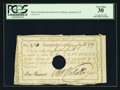 Colonial Notes:Connecticut, Hartford, CT- Interest Certificate £1 August 31, 1789 PCGS VeryFine 30.. ...
