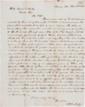 Autographs:Statesmen, [Mercer Colony]. Charles H. DuPont Autograph Letter Signed...