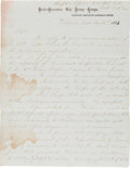Autographs:Military Figures, [Civil War]. William H. Greenwood Autograph Report Signed.... (Total: 4 )