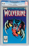 Modern Age (1980-Present):Superhero, Wolverine Limited Series #2 (Marvel, 1982) CGC NM/MT 9.8 Whitepages....