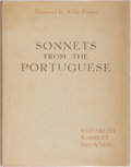 Books:Literature Pre-1900, [Willy Pogany, illustrator]. INSCRIBED BY POGANY. Elizabeth BarrettBrowning. Sonnets from the Portuguese. Crowell, ...