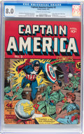 Golden Age (1938-1955):Superhero, Captain America Comics #2 (Timely, 1941) CGC VF 8.0 Cream to off-white pages....
