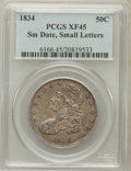 Bust Half Dollars: , 1834 50C Small Date, Small Letters XF45 PCGS. PCGS Population(157/583). NGC Census: (0/0). ...