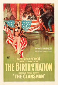 "The Birth of a Nation (Epoch Producing,1915). One Sheet (28"" X 41"")"