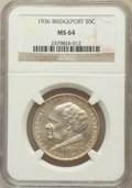 Commemorative Silver: , 1936 50C Bridgeport MS64 NGC. NGC Census: (1069/1580). PCGSPopulation (1822/2335). Mintage: 25,015. Numismedia Wsl. Price ...