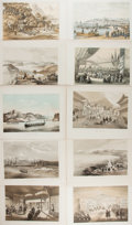 Books:Prints & Leaves, [Prints and Engravings]. W. Heins. Lot of Ten Tinted Prints fromPerry's Expedition to Japan. Sarony, [n.d.,1856] . Approxim...