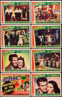 """Sweetheart of the Campus (Columbia, 1941). Lobby Card Set of 8 (11"""" X 14""""). Musical. ... (Total: 8 Items)"""