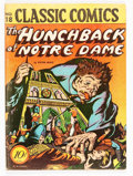 Golden Age (1938-1955):Classics Illustrated, Classic Comics #18 The Hunchback of Notre Dame - First Edition(Gilberton, 1944) Condition: Average VG....
