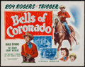 "Movie Posters:Western, Bells of Coronado (Republic, R-1956). Half Sheet (22"" X 28"") Style A. Western.. ..."