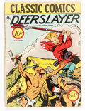 Golden Age (1938-1955):Classics Illustrated, Classic Comics #17 The Deerslayer - First Edition (Gilberton, 1944)Condition: VG-....
