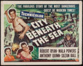 "Movie Posters:Action, City Beneath the Sea (Universal International, 1953). Half Sheet(22"" X 28""). Action.. ..."