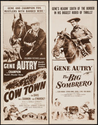 "Cow Town and Other Lot (Columbia, R-1956). Inserts (2) (14"" X 36""). Western. ... (Total: 2 Items)"