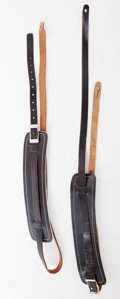 Musical Instruments:Electric Guitars, 1954 Fender Stratocaster Re-Issue Guitar Strap Lot of 2....