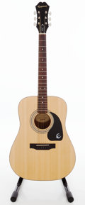 Musical Instruments:Acoustic Guitars, 2000s Epiphone Custom Shop DR-90 Limited Edition Natural Acoustic Guitar, Serial # 11022305425....
